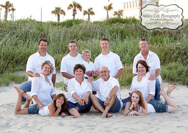 Galveston Family Beach Portraits