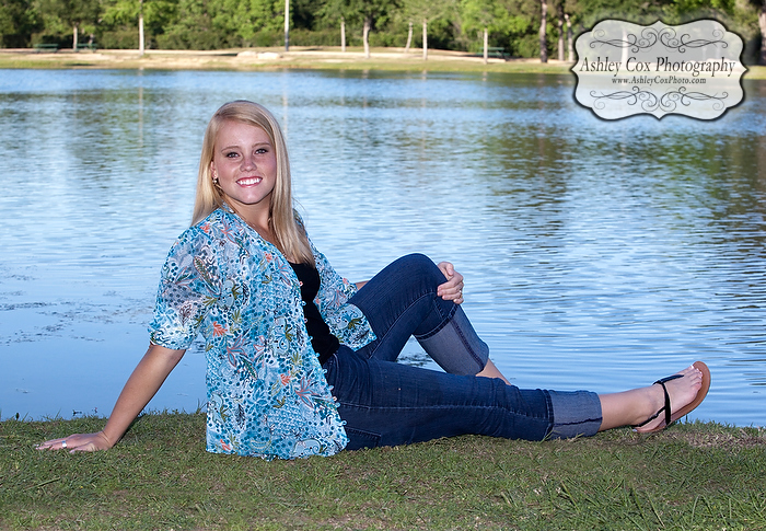 Megan's senior portraits in Katy, Texas at Mayde Creek High School.