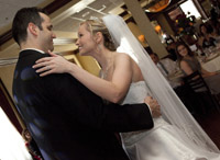 The wedding reception of Alexandra and Zachary at Maggiano's Little Italy in Houston