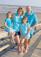 Family portraits at Pirates Beach in Galveston, Texas.