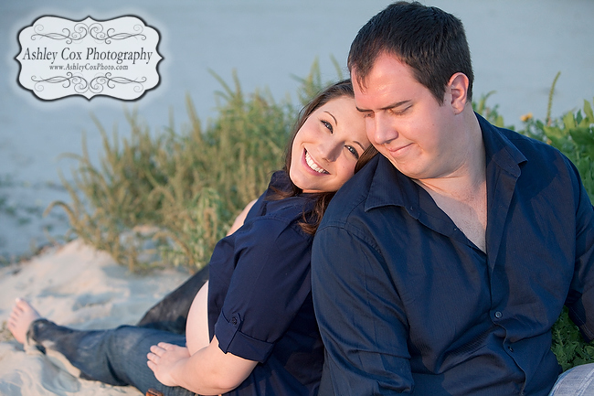 Natalie and Dan Costales maternity portraits on the beach in Galveston.