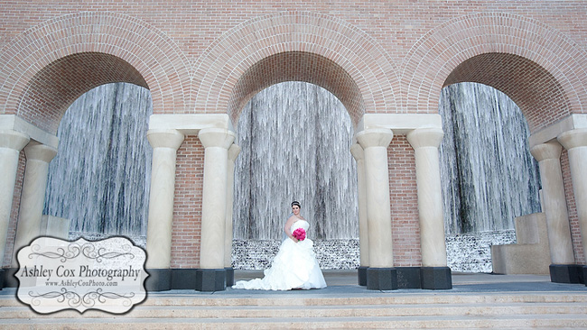 Katie's Bridal Portraits at the Waterwall in Houston