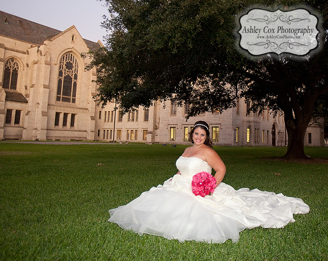 Katie's Bridal Portraits at St. Paul's United Methodist Church in Houston.