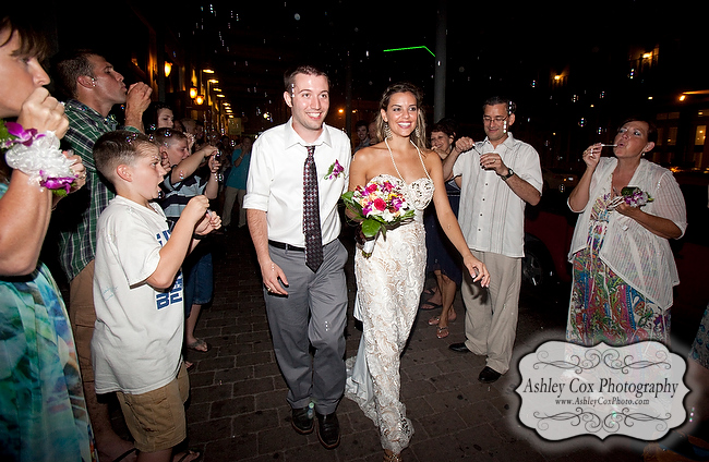 The wedding reception of Amanda and Nathan at The Roof Garden in Galveston.