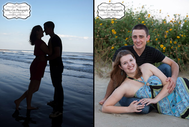 Hannah and Tim's engagement portraits in Galveston.