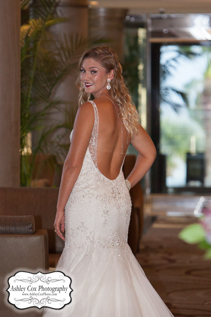 © 2015 Ashley Cox, All Rights Reserved Catherine Lee's bridal portrait in Galveston, Texas at The San Luis Resort on Tuesday October 20th.